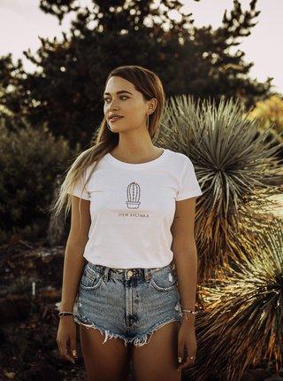 Biele dámske tričko ZOOT Original Jsem květinka