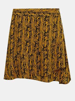 Oranžová vzorovaná sukňa Noisy May Beagle