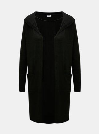 Černý dlouhý kardigan s kapucí Noisy May