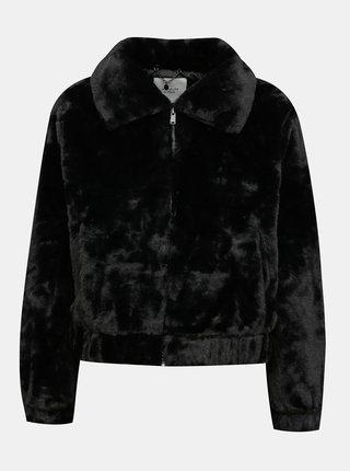 Černá bunda z umělé kožešiny Jacqueline de Yong Toscana