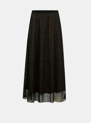 Čierna vzorovaná maxi sukňa Jacqueline de Yong Dixie