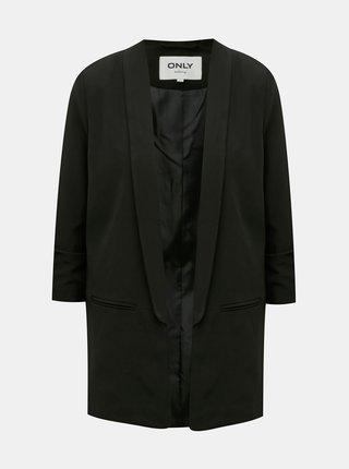 Čierne dlhé sako ONLY Elly