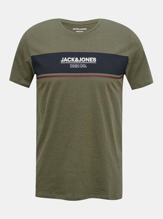 Khaki tričko s potiskem Jack & Jones Shaker