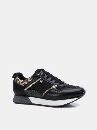 Čierne dámske vzorované tenisky Xti
