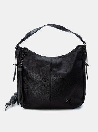 Čierna kabelka so strapcami Xti