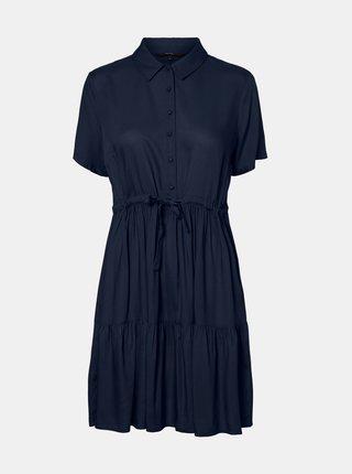 Tmavě modré košilové šaty VERO MODA Dolca