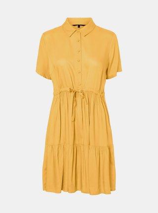 Žlté košeľové šaty VERO MODA Dolca