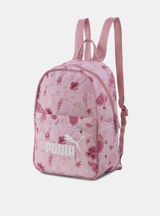 Ružový dámsky kvetovaný batoh Puma