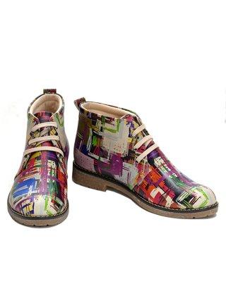 Goby barevné kotníkové boty Paiting