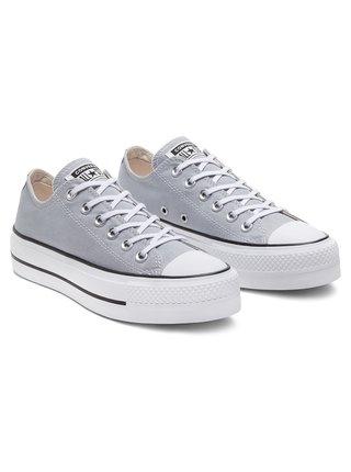 Converse šedé tenisky na platformě Chuck Taylor All Star Lift Grey/Print