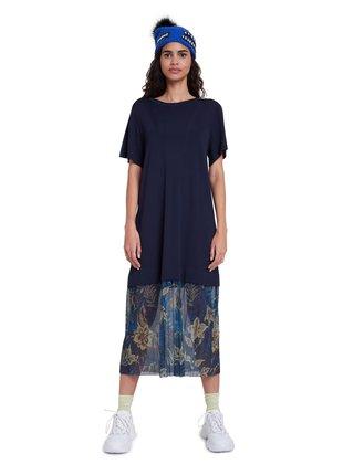 Desigual modré šaty Vest Osaka