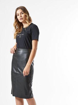 Čierna púzdrová koženková sukňa Dorothy Perkins