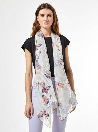 Šedý vzorovaný šátek Dorothy Perkins