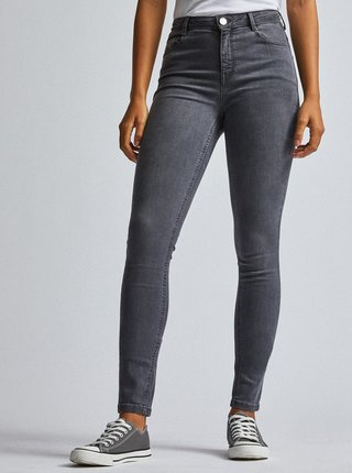 Šedé skinny fit rifle Dorothy Perkins Tall