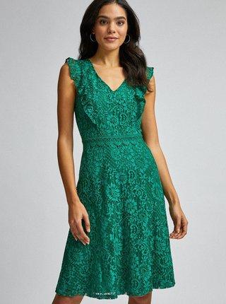 Zelené krajkové šaty Dorothy Perkins