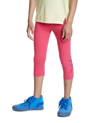 Desigual růžové dívčí legíny Legging Platon