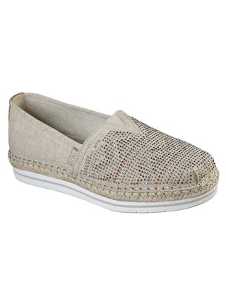 Skechers béžové espadrilky Bobs Breeze Moonbeams and Stars