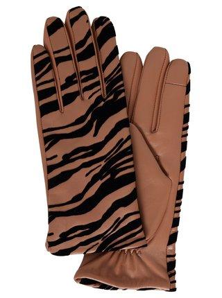 Ichi hnedé rukavice Iazebra