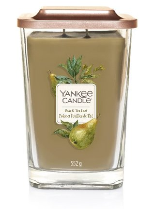 Yankee Candle vonná svíčka Elevation Pear&Tea Leaf hranatá velká 2 knoty