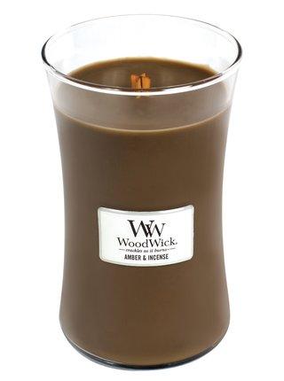 WoodWick vonná svíčka Amber & Incense velká váza