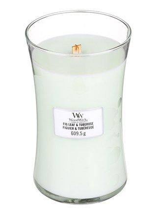 WoodWick vonná svíčka Fig Leaf & Tuberose velká váza