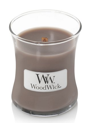 WoodWick vonná svíčka Black Amber & Citrus malá váza