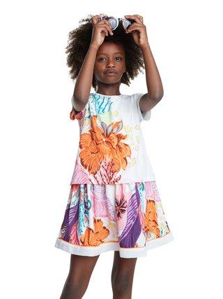 Desigual barevné dívčí šaty Vest Guadalupe