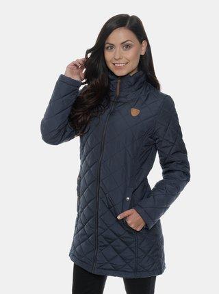 Tmavě modrý dámský prošívaný kabát SAM 73