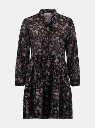 Černé vzorované šaty Haily´s