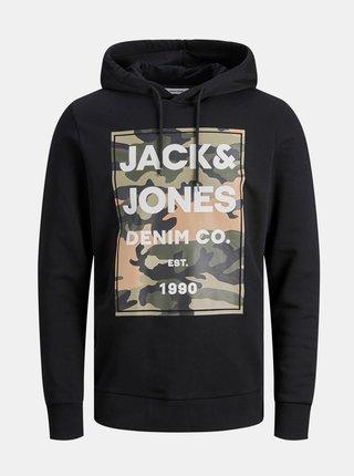 Čierna mikina s kapucou Jack & Jones Camoman