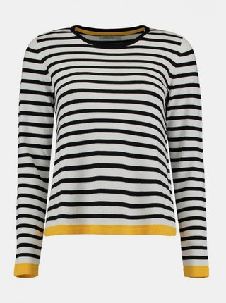 Čierno-biely ľahký pruhovaný sveter Haily´s