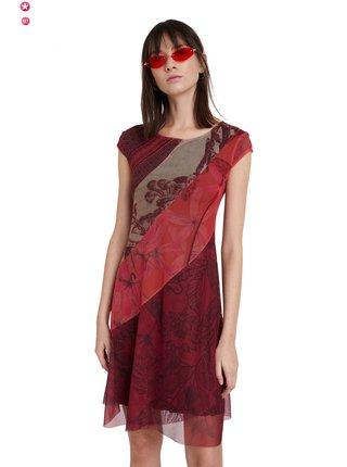 Desigual červené šaty Vest Houston