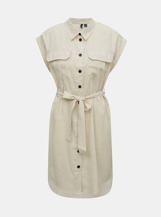 Krémové košilové šaty VERO MODA Venus
