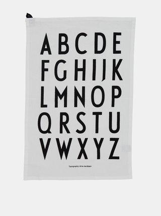 Sada dvou bílých utěrek Design Letters