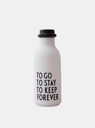 Bílá láhev na pití Design Letters 500 ml