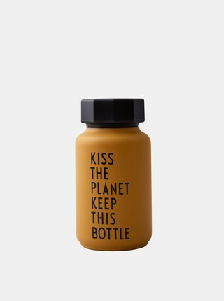 Oranžová termo láhev Design Letters 330 ml