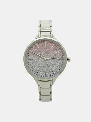 Dámske hodinky s kovovým remienkom v strienornej farbe Nine West