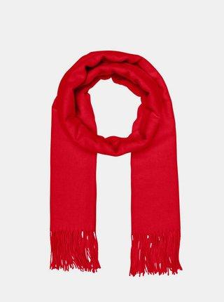 Červený šál s prímesou vlny ONLY Nalla