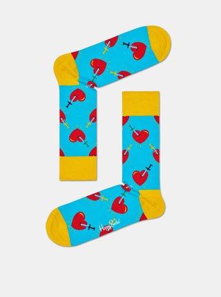 Modré vzorované ponožky Happy Socks Broken Heart