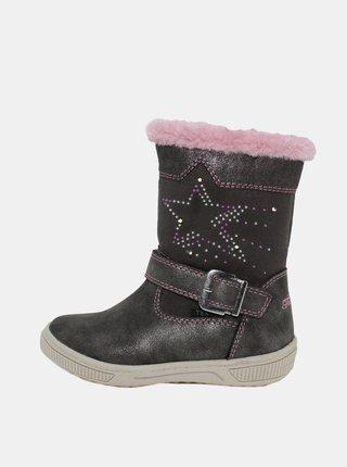 Tmavošedé dievčenské zimné topánky Tom Tailor