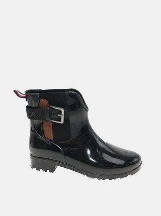 Čierne dámske zimné chelsea topánky Tom Tailor