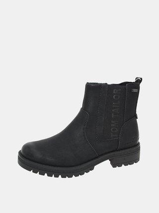 Černé dámské zimní chelsea boty Tom Tailor