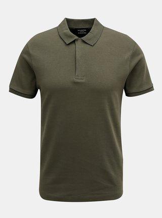 Tricouri polo pentru barbati Selected Homme - verde inchis