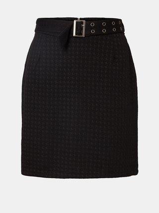 Čierna vzorovaná sukňa s opaskom Noisy May Hound