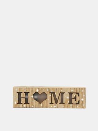 Hnedá drevená svietiaca dekorácia Dakls