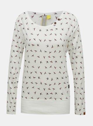 Krémové dámske vzorované tričko Alife and Kickin