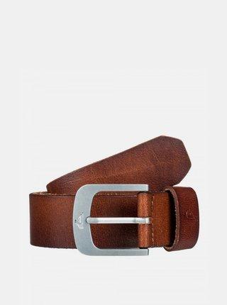 Hnědý kožený pásek Quiksilver