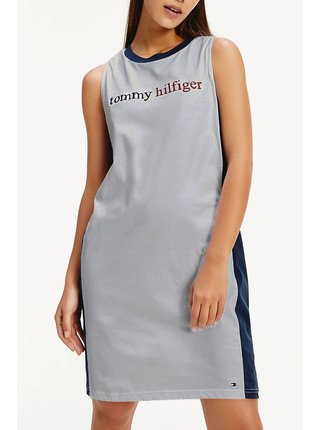 Tommy Hilfiger šedé šaty Night Dress Grey Heather