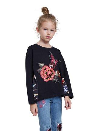 Desigual černé dívčí tričko TS Norwich