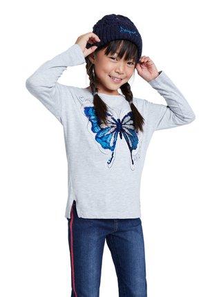 Desigual šedé dívčí tričko TS Tepexpan